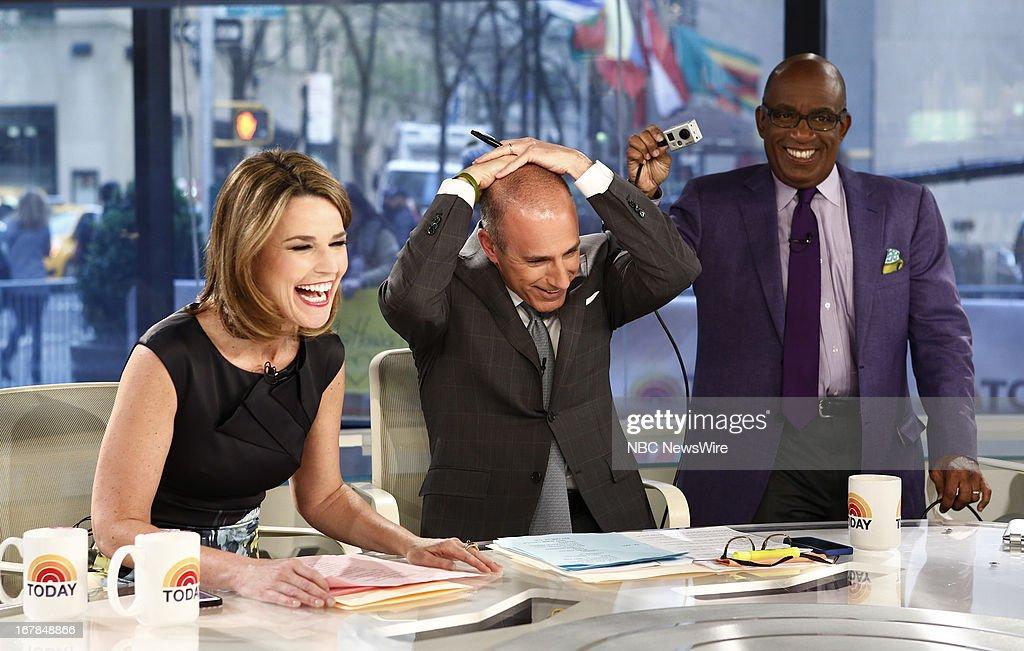 Savannah Guthrie, Matt Lauer and Al Roker appear on NBC News' 'Today' show --