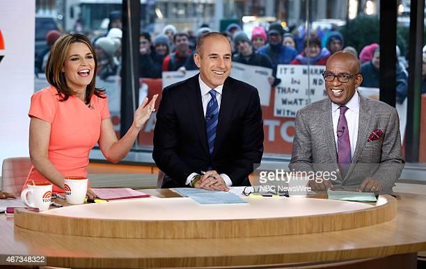 Savannah Guthrie Matt Lauer and Al Roker appear on NBC News' 'Today' show