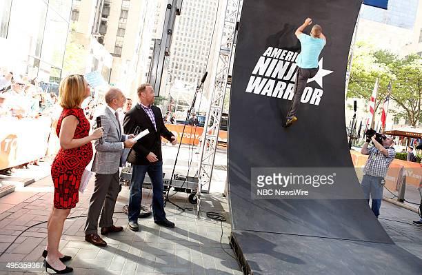 Savannah Guthrie Matt Lauer and American Ninja Warrior host Matt Iseman and contestant Chris Wilczewski appear on NBC News' 'Today' show