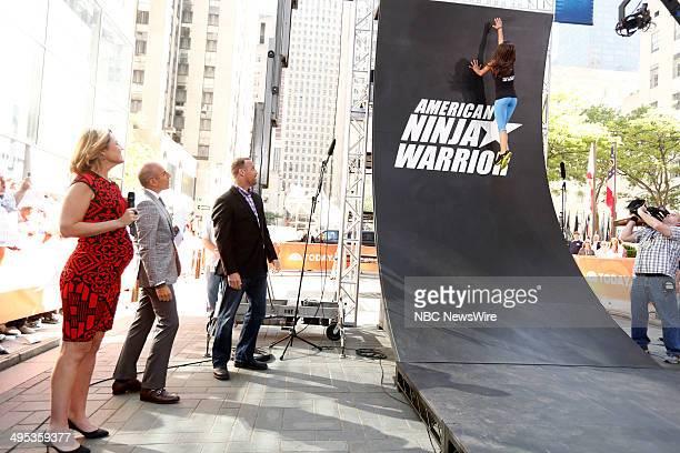 Savannah Guthrie Matt Lauer and American Ninja Warrior host Matt Iseman and contestant Kacy Catanzaro appear on NBC News' 'Today' show