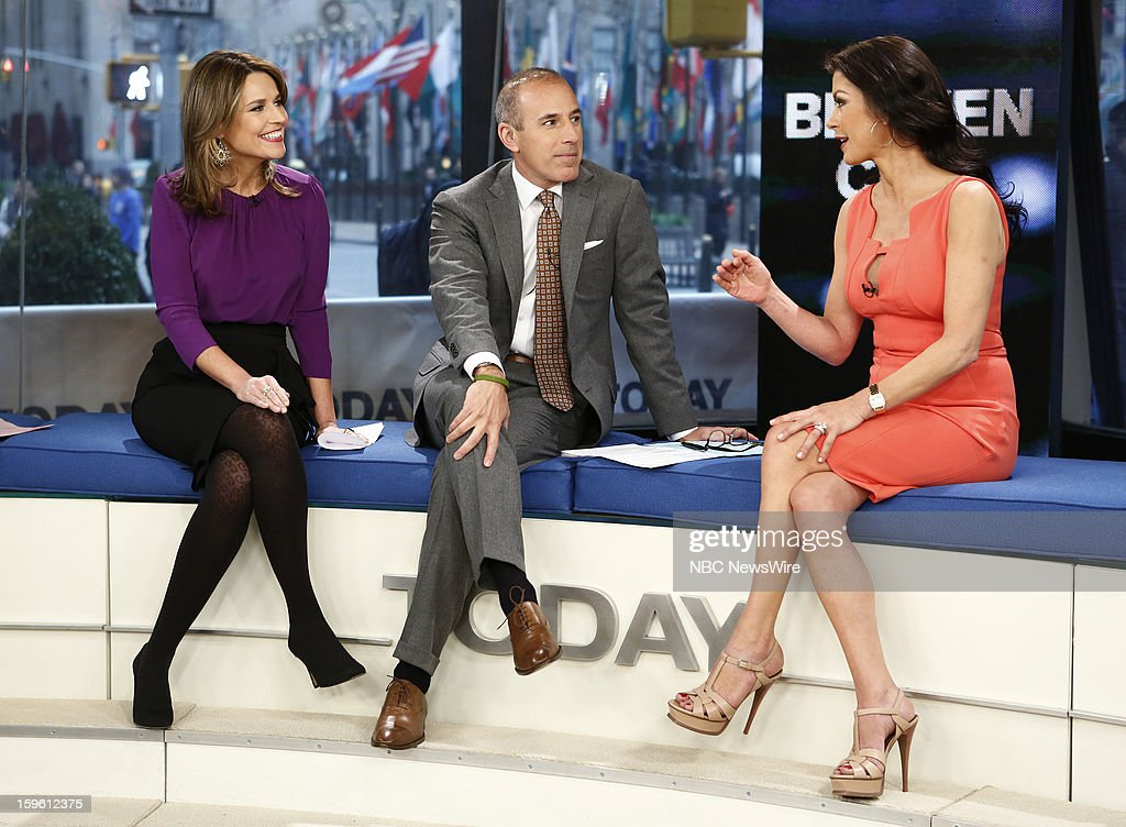 Savannah Guthrie, Matt Lauer and Catherine Zeta-Jones appear on NBC News' 'Today' show --