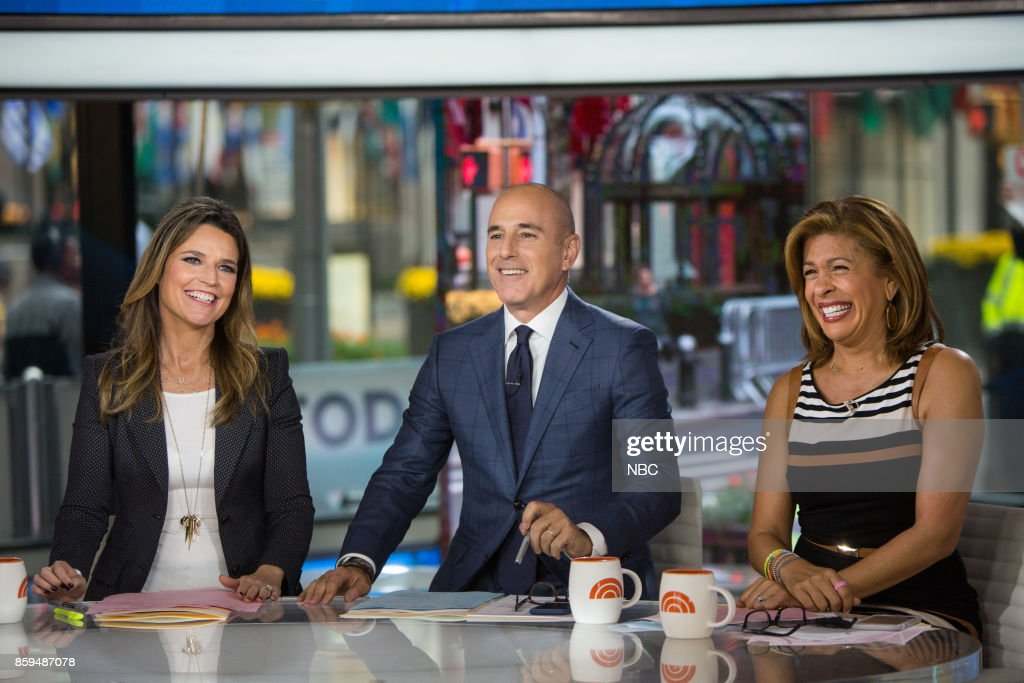 Savannah Guthrie, Matt Lauer and Hoda Kotb on Monday, October 9, 2017 --