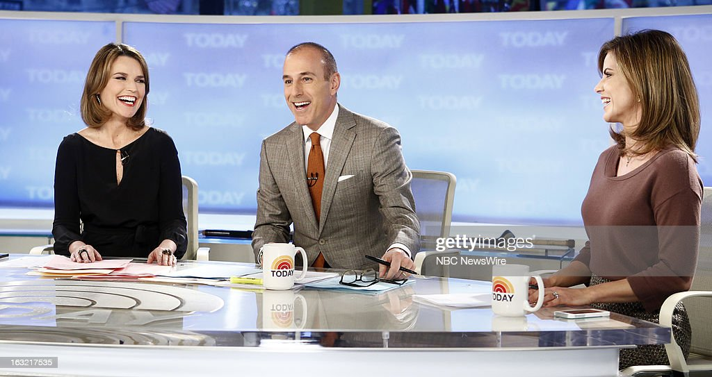 Savannah Guthrie, Matt Lauer and Natalie Morales appear on NBC News' 'Today' show --