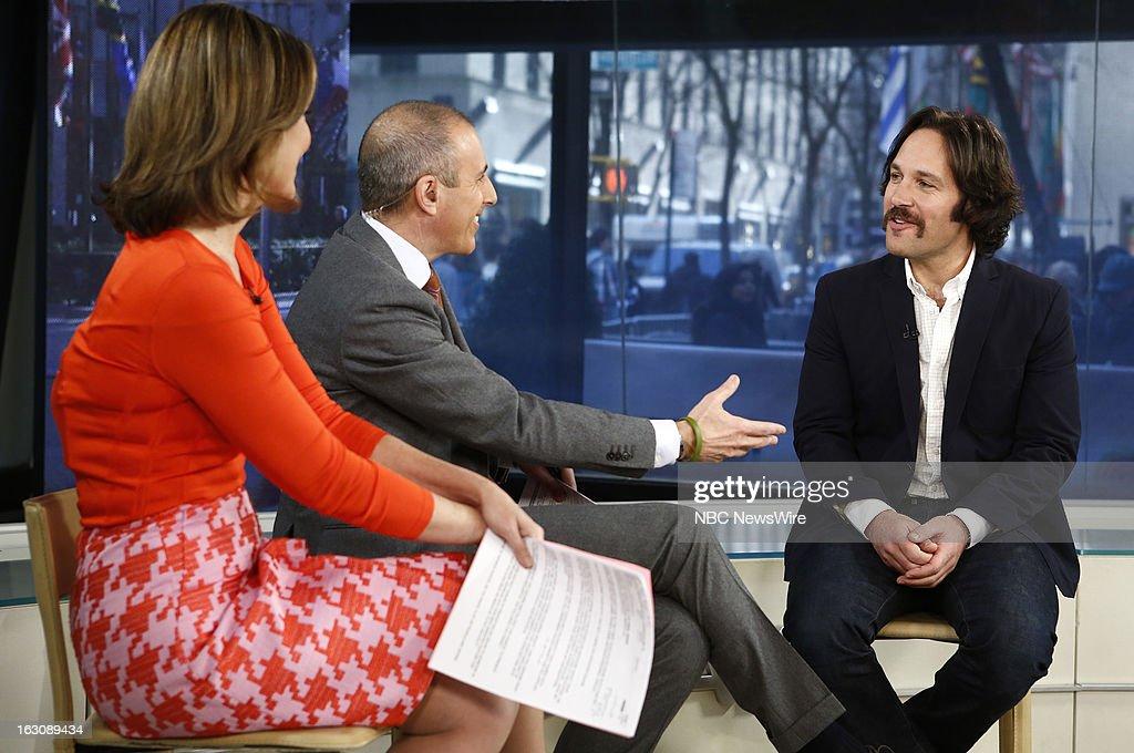 Savannah Guthrie, Matt Lauer and Paul Rudd appear on NBC News' 'Today' show --