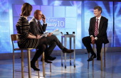 Savannah Guthrie Matt Lauer and Thorsten Heins appear on NBC News' 'Today' show