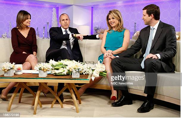 Savannah Guthrie Matt Lauer Jenna Bush Hager and Henry Hager appear on NBC News' 'Today' show