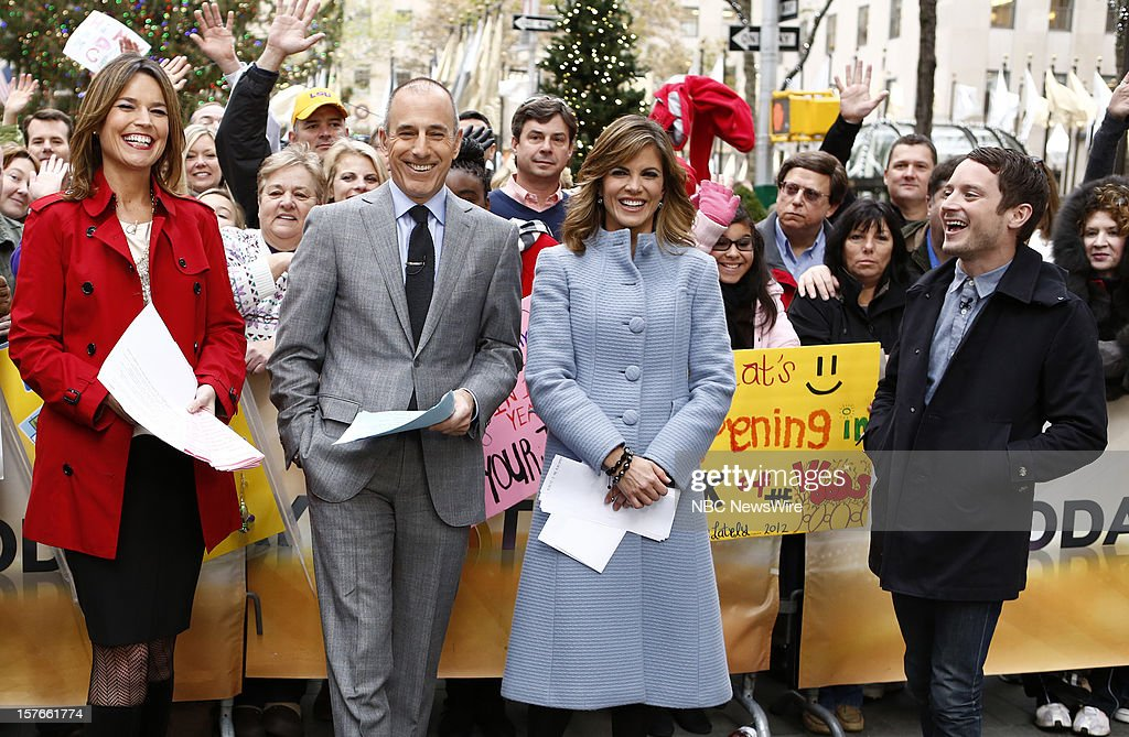 Savannah Guthrie, Matt Lauer, Natalie Morales and Elijah Wood appear on NBC News' 'Today' show --