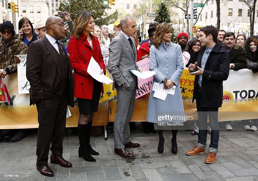 Savannah Guthrie, Matt Lauer, Natalie Morales and Elijah Wood appear on NBC News' 'Today' show --