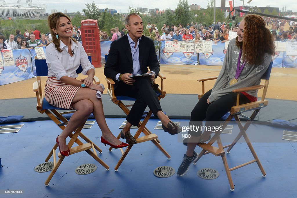 <a gi-track='captionPersonalityLinkClicked' href=/galleries/search?phrase=Savannah+Guthrie&family=editorial&specificpeople=653313 ng-click='$event.stopPropagation()'>Savannah Guthrie</a>, <a gi-track='captionPersonalityLinkClicked' href=/galleries/search?phrase=Matt+Lauer&family=editorial&specificpeople=206146 ng-click='$event.stopPropagation()'>Matt Lauer</a>, <a gi-track='captionPersonalityLinkClicked' href=/galleries/search?phrase=Shannon+Vreeland&family=editorial&specificpeople=6738252 ng-click='$event.stopPropagation()'>Shannon Vreeland</a> on August 2, 2012 -- Photo by: