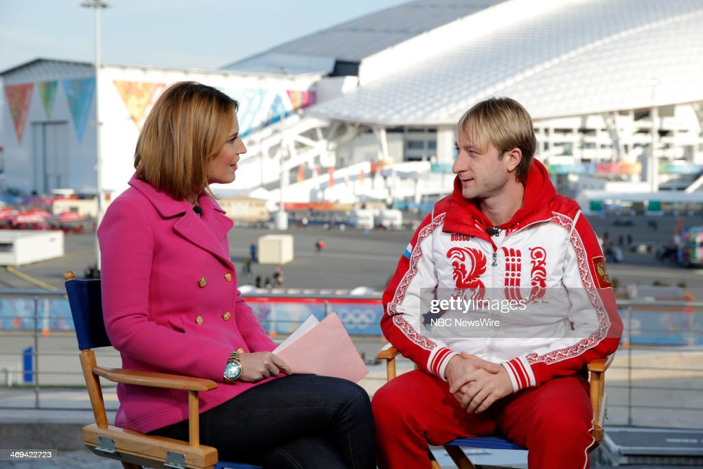 Savannah Guthrie, Yevgeny Plushenko from the 2014 Olympics in Socci --