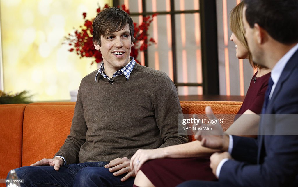 Seattle bus rider Casey Borgen who disarmed and tackled a armed robber appears on NBC News' 'Today' show on December 20, 2013--