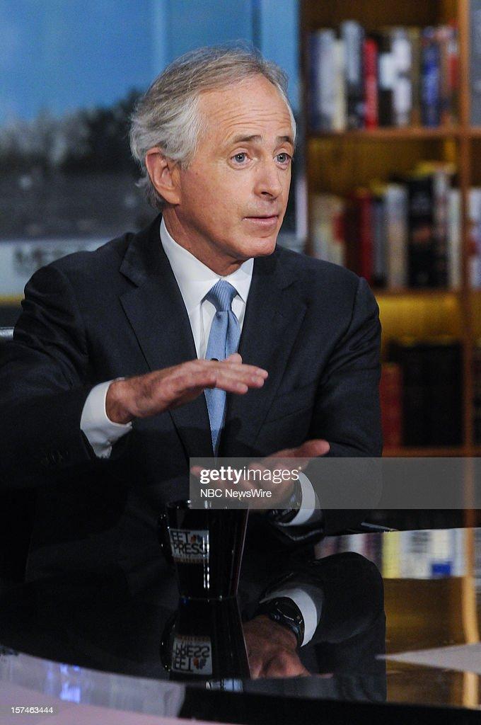 ? Sen. Bob Corker (R-TN) appears on 'Meet the Press' in Washington D.C., Sunday, Dec. 2, 2012.