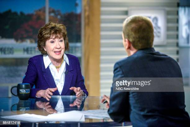 Sen Susan Collins and moderator Chuck Todd appear on 'Meet the Press' in Washington DC Sunday Dec 3 2017