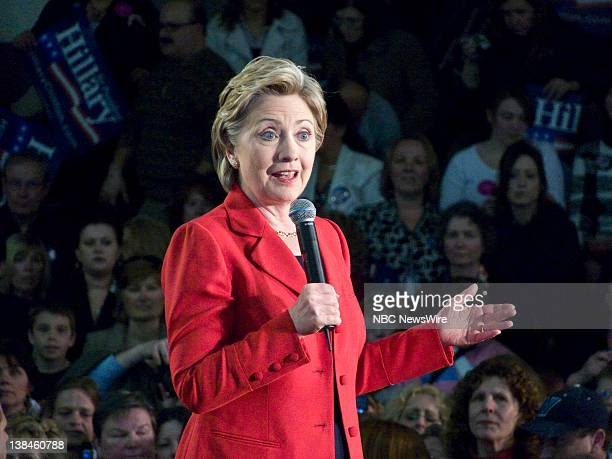Senator Hillary Clinton during her campaign for the Democratic Presidential nomination in Blue Bell PA on March 24 2008