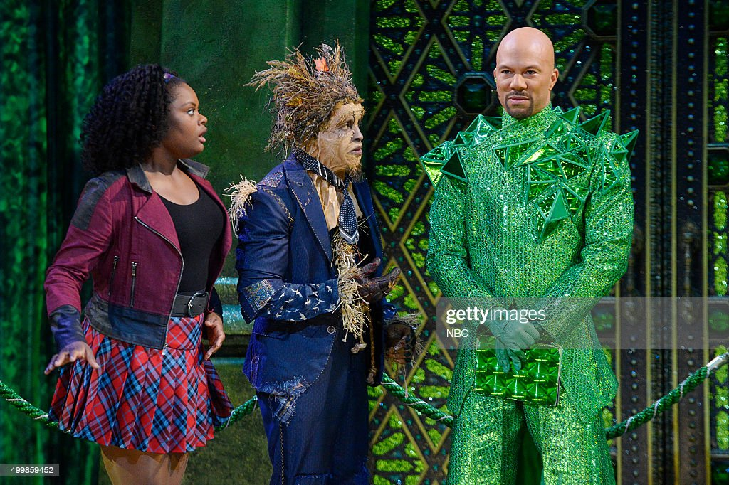 Shanice Williams as Dorothy, Elijah Kelley as Scarecrow, Common as The Bouncer --