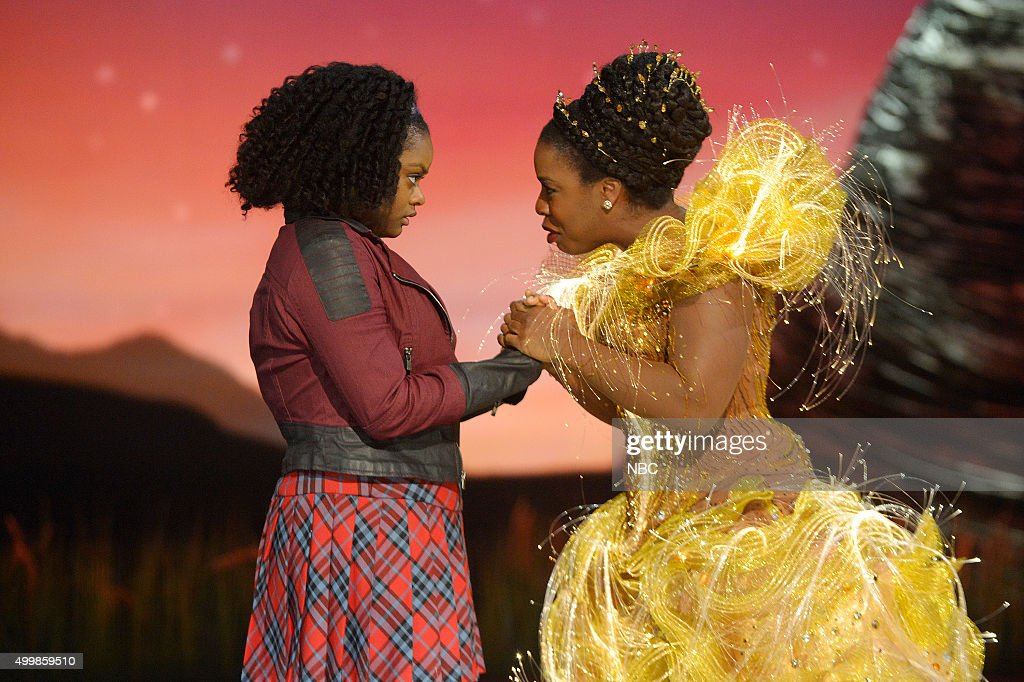 Shanice Williams as Dorothy, Uzo Aduba as Glinda --