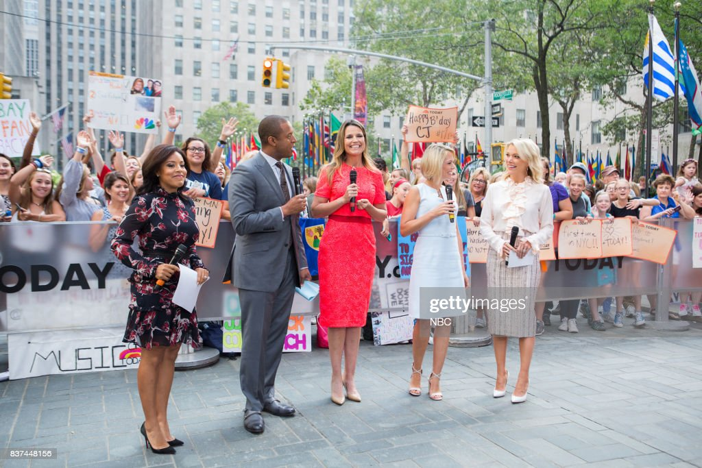 Sheinelle Jones, Craig Melvin, Savannah Guthrie, Dylan Dreyer and Megyn Kelly on Tuesday, August 22, 2017 --