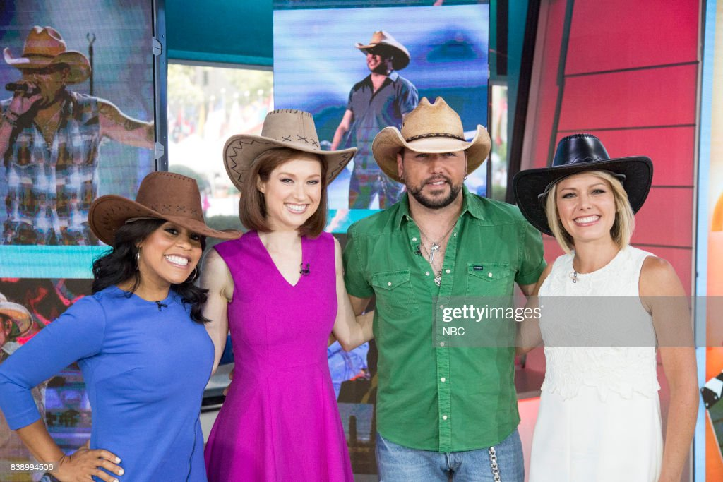 Sheinelle Jones, Ellie Kemper, Jason Aldean, and Dylan Dreyer on Friday Aug. 25, 2017 --