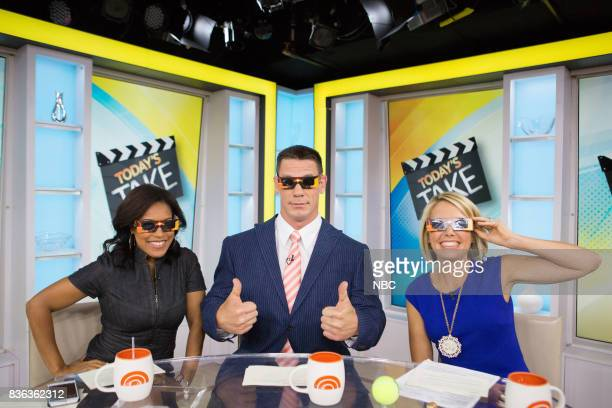 Sheinelle Jones John Cena and Dylan Dreyer on Monday August 21 2017
