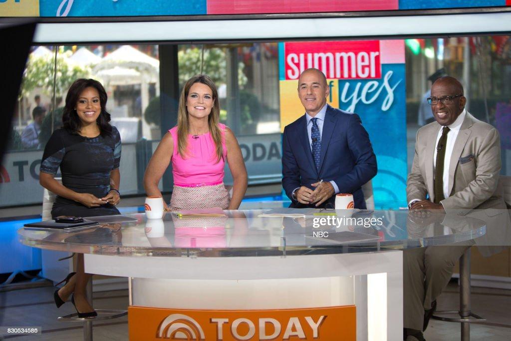 Sheinelle Jones, Savannah Guthrie, Matt Lauer, and Al Roker on Friday, Aug.11, 2017 --