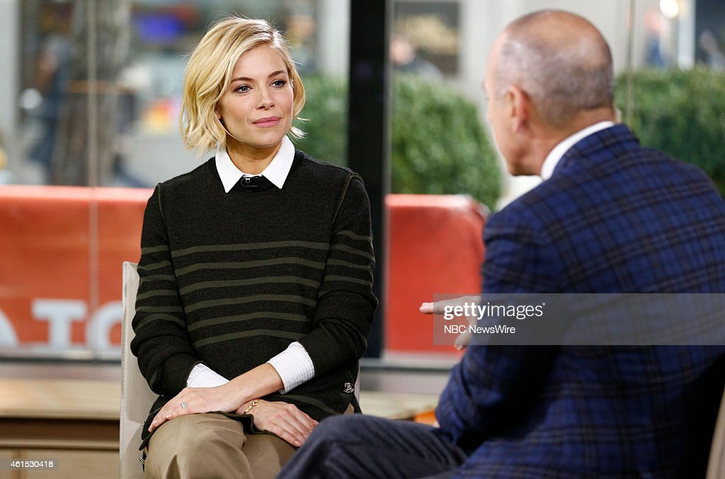 Sienna Miller and Matt Lauer appear on NBC News' 'Today' show
