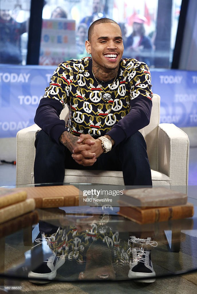 Singer Chris Brown appears on NBC News' 'Today' show on April 1, 2013 --