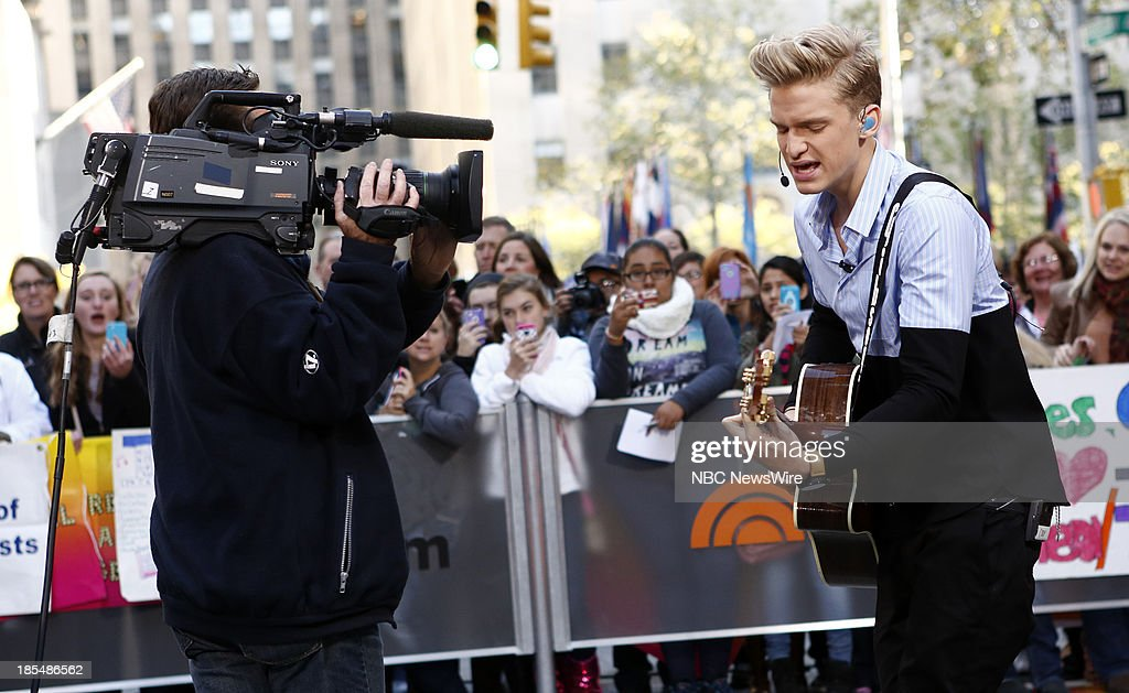 Singer <a gi-track='captionPersonalityLinkClicked' href=/galleries/search?phrase=Cody+Simpson&family=editorial&specificpeople=7068455 ng-click='$event.stopPropagation()'>Cody Simpson</a> appears on NBC News' 'Today' show on October 21, 2013 --