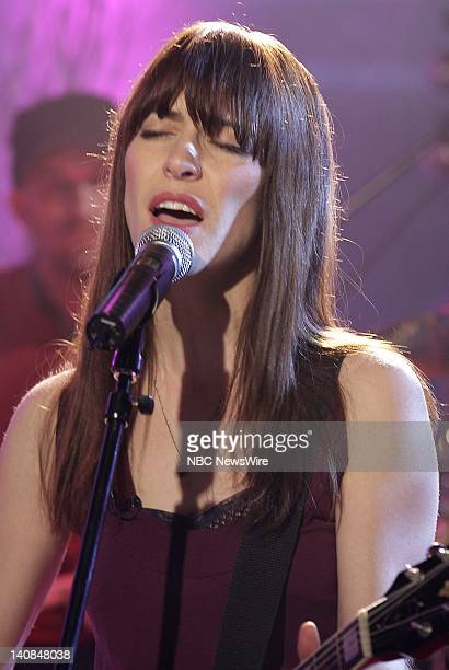 Singer Leslie Feist performs live in the studio on NBC News' Today on December 12 2007 Photo by Virginia Sherwood/NBC NewsWire