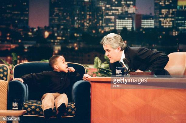 Singer Maestro Harrell during an interview with host Jay Leno on February 23 1998