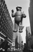 Smokey the Bear balloon passes over head during the 1966 Macy's Thanksgiving Day Parade Photo by NBCU Photo Bank