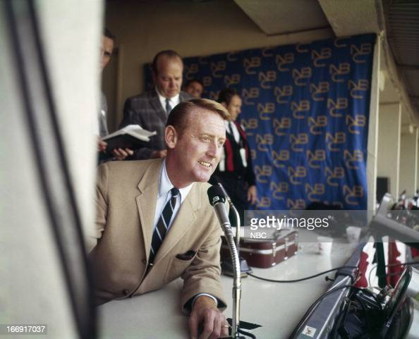 Sportscaster Vin Scully in the 1960s