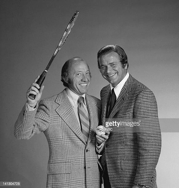 Sportscasters Bud Collins and Jim Simpson Photo by Al Levine/NBCU Photo Bank