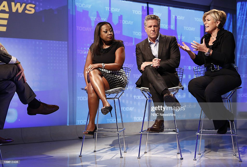 Star Jones, Donnie Deutsch and Suze Orman appear on NBC News' 'Today' show --