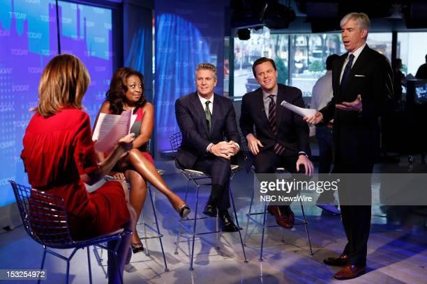 Star Jones Donnie Deutsch Willie Geist and David Gregory appear on NBC News' 'Today' show