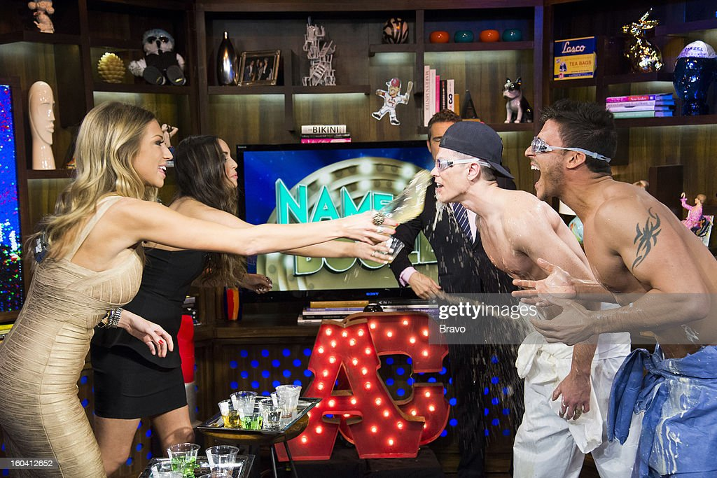 Stassi Schroeder, Scheana Marie, Andy Cohen, Tom Sandoval and Jax Taylor -- Photo by: Charles Sykes/Bravo/NBCU Photo Bank via Getty Images