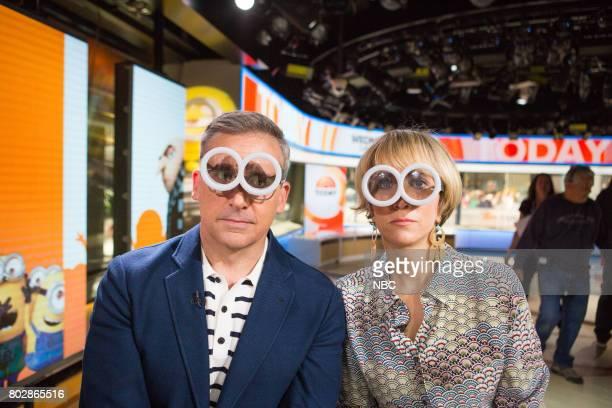Steve Carell and Kristen Wiig on Wednesday June 28 2017