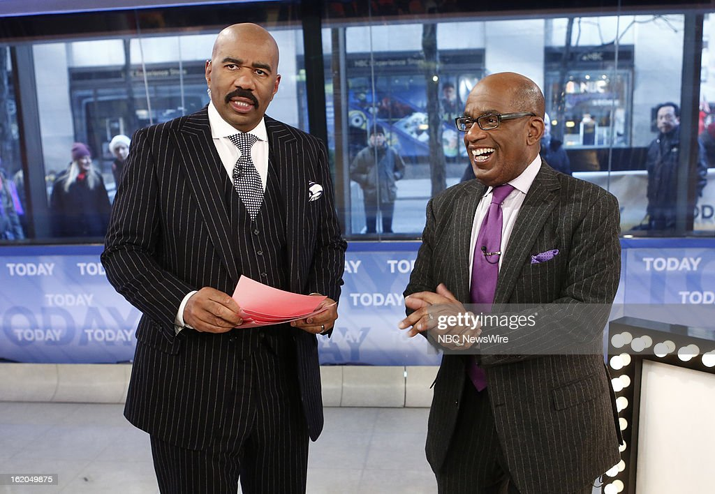 Steve Harvey and Al Roker appear on NBC News' 'Today' show --