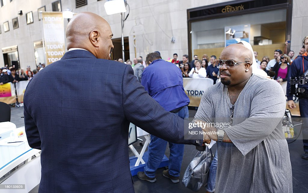 Steve Harvey and CeeLo Green appear on NBC News' 'Today' show --