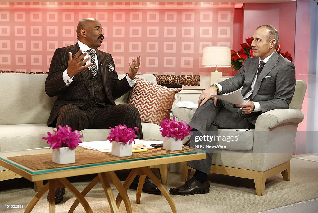 Steve Harvey and Matt Lauer appear on NBC News' 'Today' show --