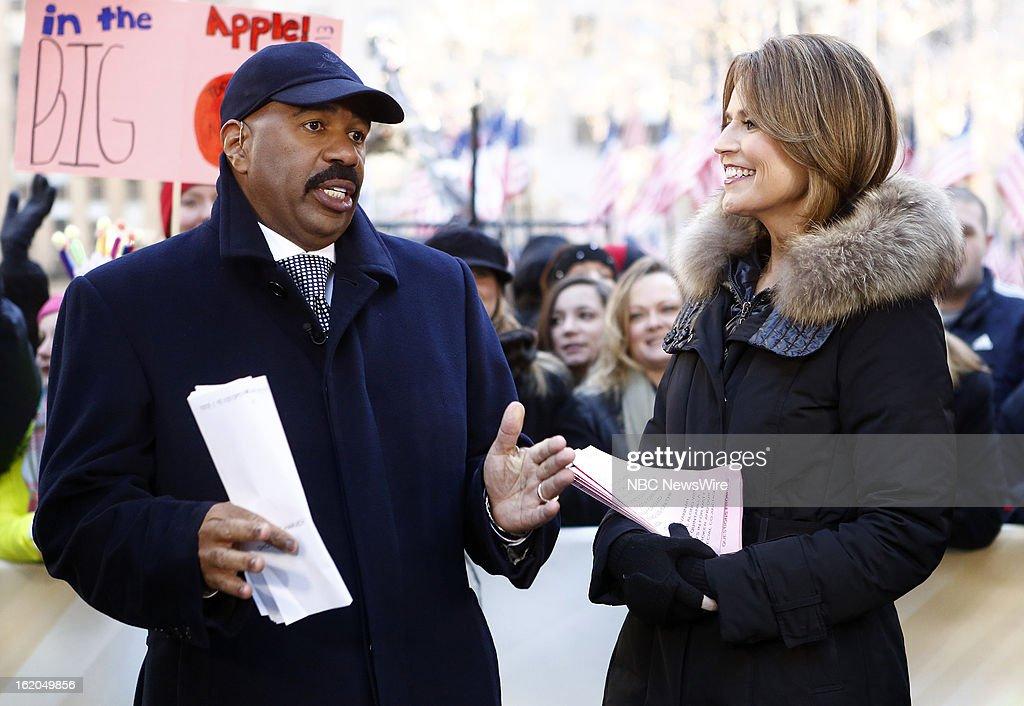Steve Harvey and Savannah Guthrie appear on NBC News' 'Today' show --