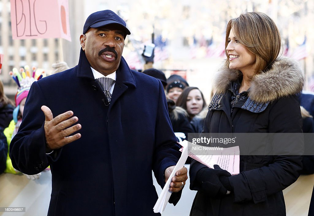 Steve Harvey and Savannah Guthrie appear on NBC News' 'Today' show --