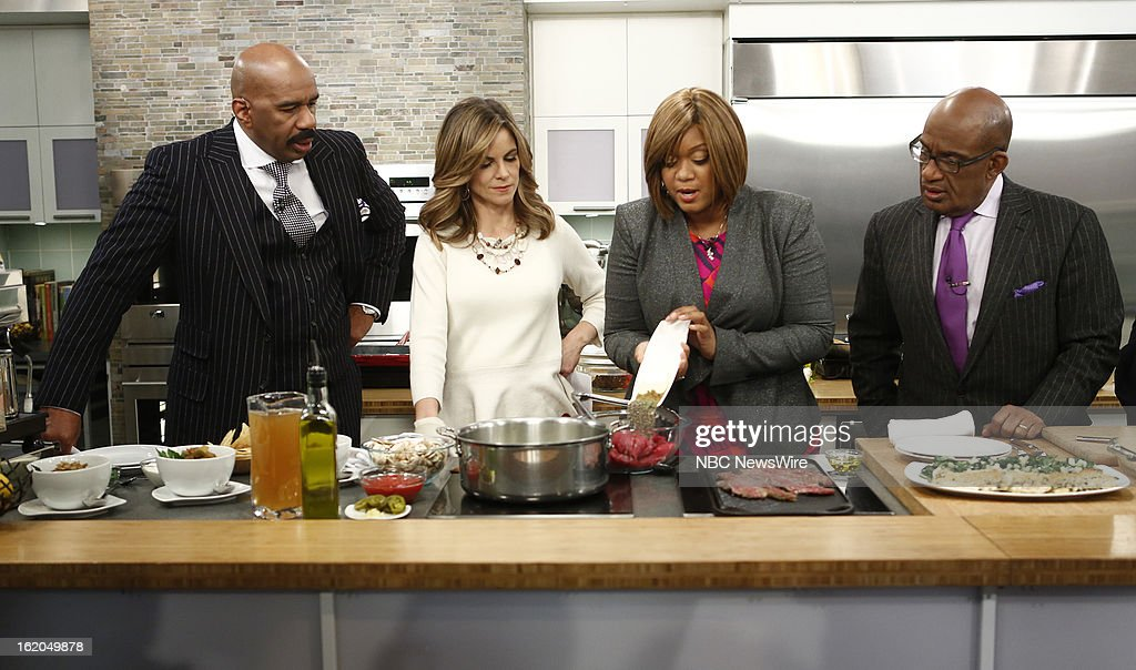 Steve Harvey, Natalie Morales, Sunny Anderson and Al Roker appear on NBC News' 'Today' show --