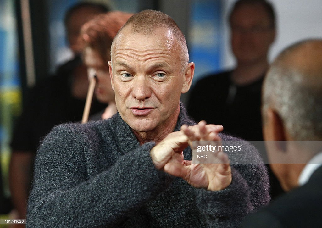 Sting appears on NBC News' 'Today' show --