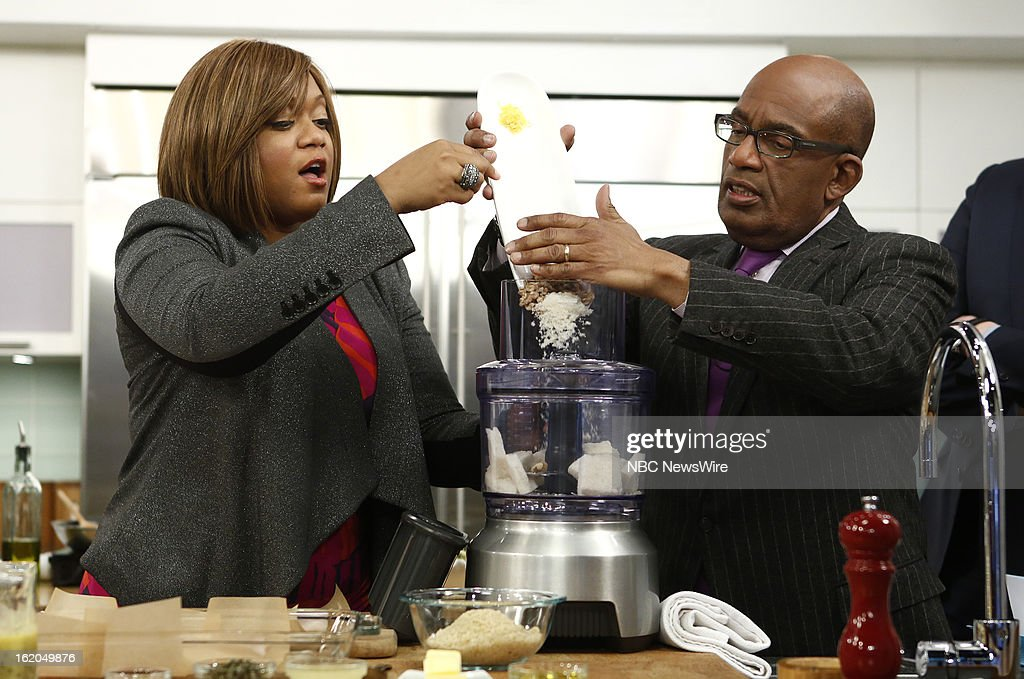 Sunny Anderson and Al Roker appear on NBC News' 'Today' show --