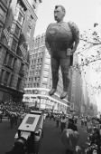 Superman balloon passes overhead during the Macy's Thanksgiving Day Parade 1966 Photo by NBCU Photo Bank