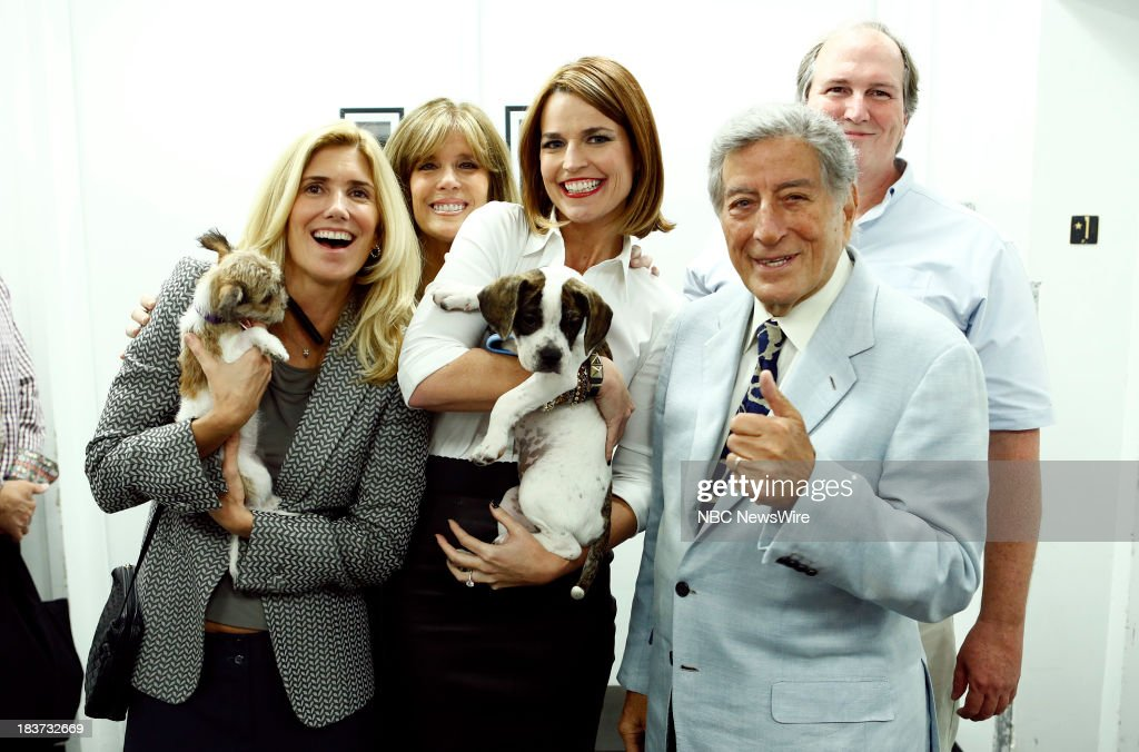 Susan Benedetto, Jill Rappoport, Savannah Guthrie, Tony Bennett and Bill Smith appear on NBC News' 'Today' show --