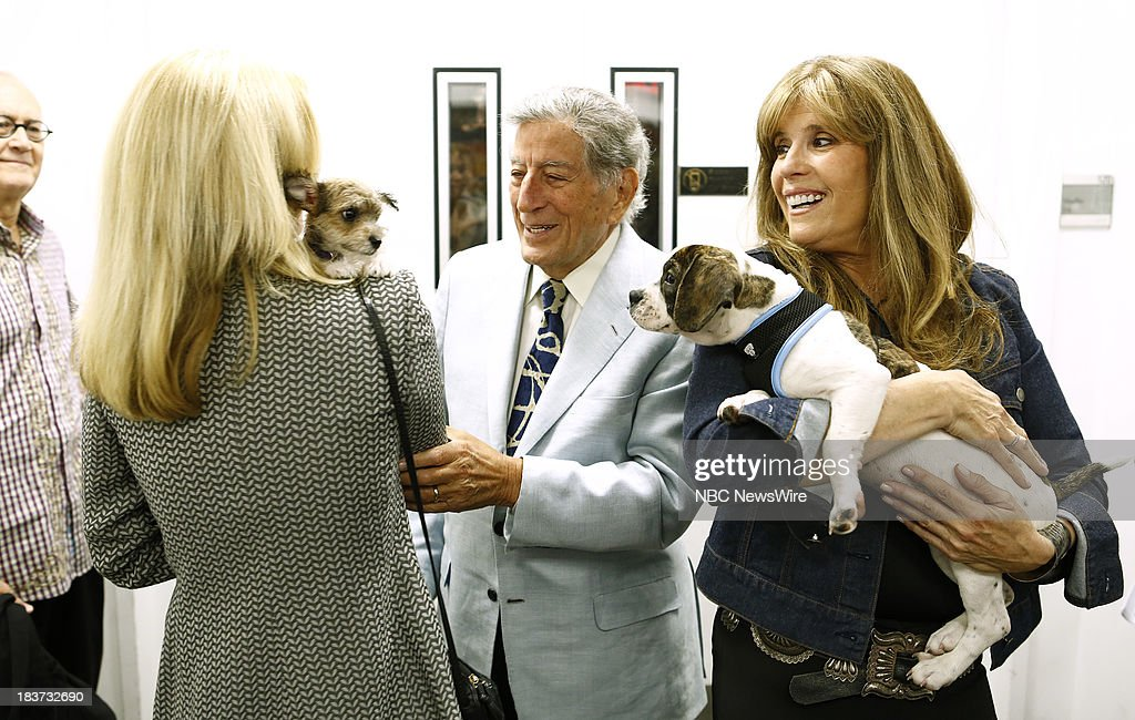 Susan Benedetto, <a gi-track='captionPersonalityLinkClicked' href=/galleries/search?phrase=Tony+Bennett+-+Singer&family=editorial&specificpeople=160951 ng-click='$event.stopPropagation()'>Tony Bennett</a> and Jill Rappoport appear on NBC News' 'Today' show --