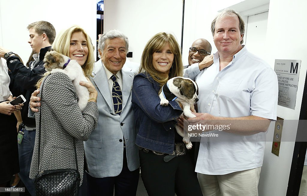 Susan Benedetto, Tony Bennett, Jill Rappoport, Al Roker and Bill Smith appear on NBC News' 'Today' show --