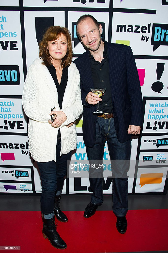 Susan Sarandon and <a gi-track='captionPersonalityLinkClicked' href=/galleries/search?phrase=Ralph+Fiennes&family=editorial&specificpeople=206461 ng-click='$event.stopPropagation()'>Ralph Fiennes</a> -- Photo by: Charles Sykes/Bravo/NBCU Photo Bank via Getty Images