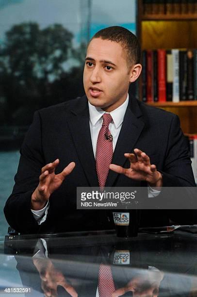 Svante Myrick Mayor of Ithaca NY appears on 'Meet the Press' in Washington DC Sunday March 30 2014
